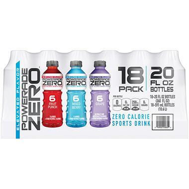POWERADE ZERO� Variety Pack - 20 oz. - 18 ct.