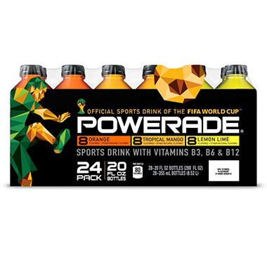 Powerade Citrus Variety Pack (20 oz. bottles, 24 pk.)