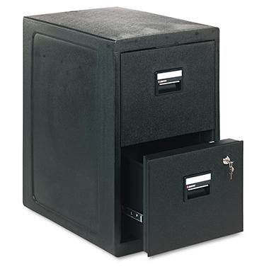 "Sentry Safe - FIRE-SAFE 2-Drawer Insulated Vertical File, 23"" - Black"