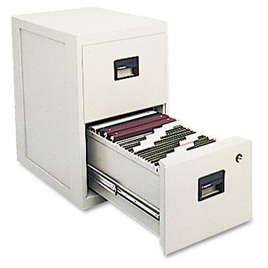 "Sentry Safe - FIRE-SAFE Insulated Vertical File, 2-Drawer, A4/Letter/Legal, 23"" - Light Gray"