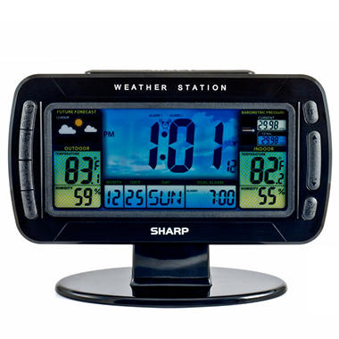 Sharp Atomic Wireless Weather Station Clock