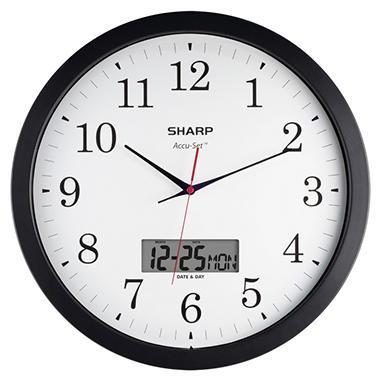 Sharp AccuSet Round Wall Clock - 14