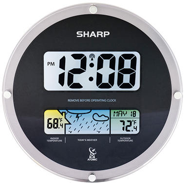 Sharp Suspended Glass Wall Clock - Black