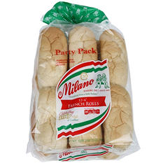 "Milano 6"" French Rolls - 12 ct."
