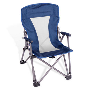 Kids' Folding Arm Chair with Padded Arms and Backrest