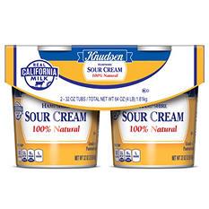 Knudsen Hampshirt Sour Cream (32 oz. tub, 2 ct.)