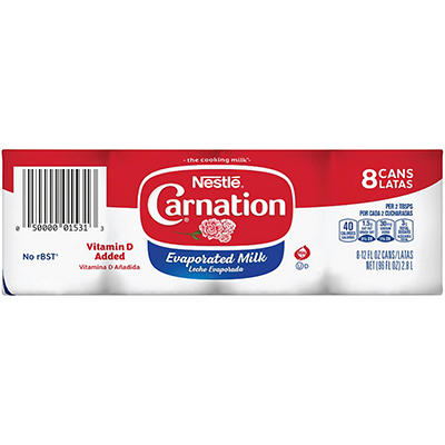 Carnation® Evaporated Milk (12 oz. cans, 8 pk.)