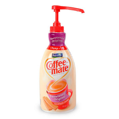 Nestle Coffee-mate - Liquid Creamer Pump, 1.5 liter - Original