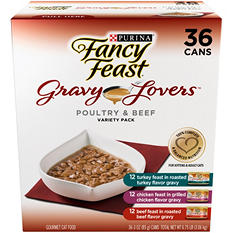 Fancy Feast Gravy Lovers Variety Pack - 36 pk.