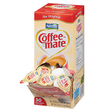 Nestle Coffee-mate - Liquid Creamer Tubs, Original - 50 Count