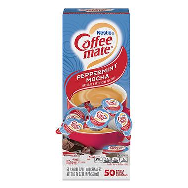 Nestle Coffee-mate Liquid Coffee Creamer, Peppermint Mocha (50 ct.)