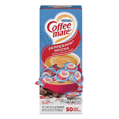 Nestle Coffee-mate Liquid Coffee Creamer, Peppermint Mocha (50 ct.)