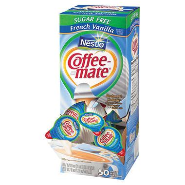 Nestle Coffee-mate - Creamer Tubs, French Vanilla (Sugar Free) - 50 Count