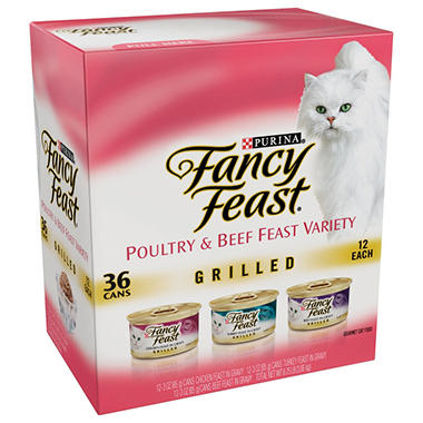 Fancy Feast Cat Food Grilled Variety Pack (36 pk.)