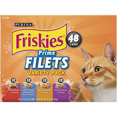 Purina Friskies Prime Filets Variety Pk - 48 ct.