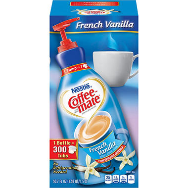 Nestle Coffee-mate - Liquid Creamer Pump, 1.5 liter - French Vanilla