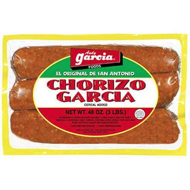 Andy Garcia Foods Chorizo Garcia - 3 lbs.
