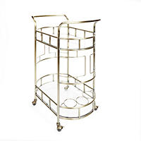 Sinclair Bar Cart, Antique Gold