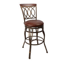 Ellis Swivel Adjustable-Height Bar Stool