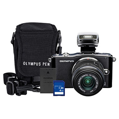 Olympus E-PM1 12.3MP Mirrorless Camera - Black
