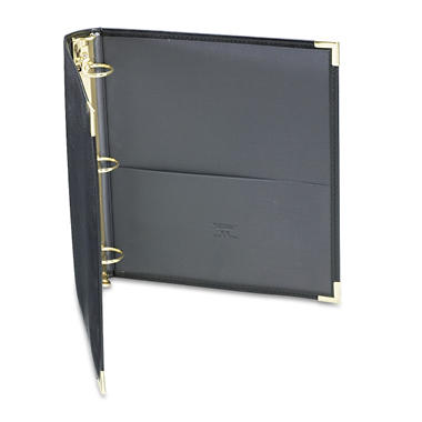 "Samsill Classic Collection Ring Binder Portfolio, 8-1/2"" x 11"", 1-1/2"" Capacity, Black"