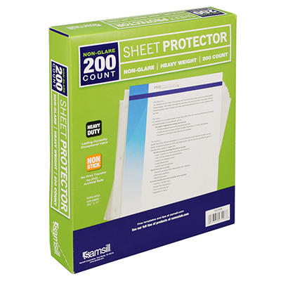 Samsill Non-Glare Sheet Protectors - 200 pk.
