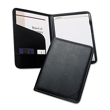 Samsill Sterling Professional Pad Holder, Storage Pockets/Card Slots, Writing Pad, Black
