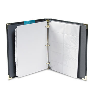 Samsill Classic Vinyl Business Card Binder