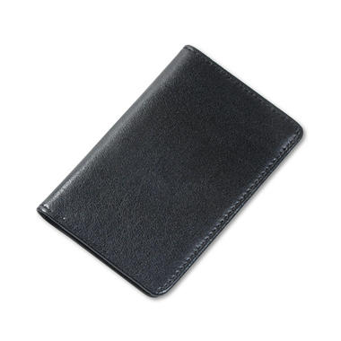 "Samsill Regal Leather Business Card Wallet Holds (25) 2"" x 3 1/2"" Cards, Black"