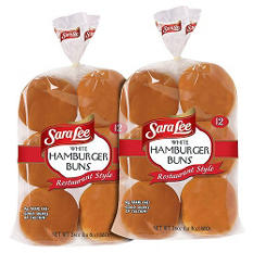 Sara Lee® Restaurant Style White Hamburger Buns - 12 ct. - 2 pks.
