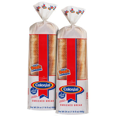 Colonial? Thin Sliced Enriched Bread - 24 oz. - 2 ct.