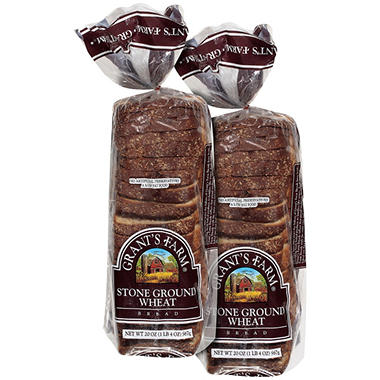 Grant's Farm® Stone Ground Wheat Bread - 20 oz. - 2 ct.