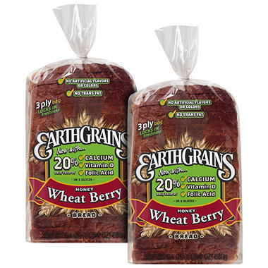EarthGrains® Honey Wheat Berry Bread - 24 oz. - 2 ct.