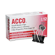 ACCO - Binder Clips, Small - 12 Count
