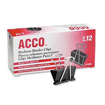 ACCO - Binder Clips, Medium - 12 Count