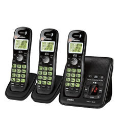 Uniden Cordless Telephone System with 3 Handsets, Answering System, & Caller ID