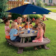Endless Adventures® Fold 'n Store Picnic Table with Market Umbrella