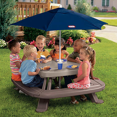 Endless Adventures� Fold 'n Store Picnic Table with Market Umbrella