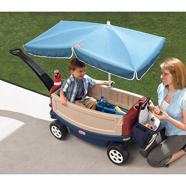 Deluxe Ride & Relax Wagon with Umbrella & Cooler