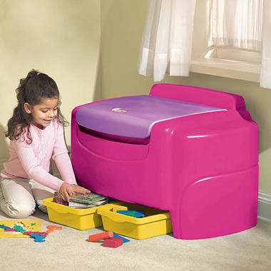 Bright Pink Sort 'n Store Toy Chest