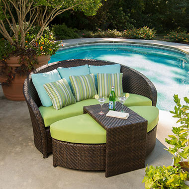 Hollywood 3 Piece Seating Set with Premium Sunbrella