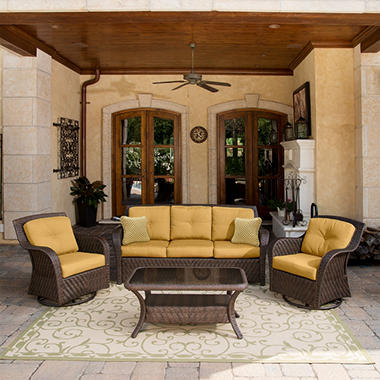 Newport Outdoor Seating Set Cornsilk - 4 pc.