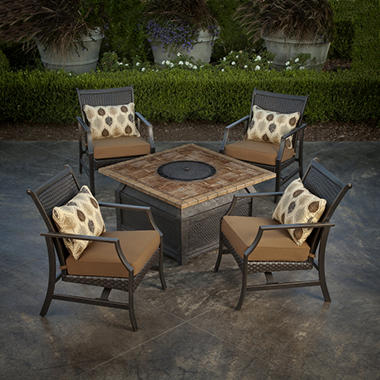 Savona II Fire Pit Chat Set - 5 pc.