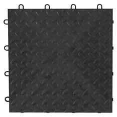 Gladiator Charcoal Tile Flooring (48 ct.)