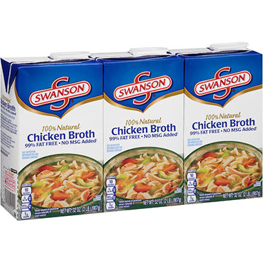 Swanson� Chicken Broth - 32 oz. - 3 ct.