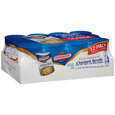 Swanson Chicken Broth (14 oz. can, 12 ct.)
