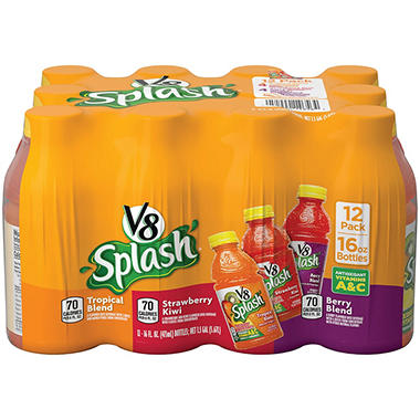 V8 Splash Variety Pack - 16 oz. bottles - 12 pk.