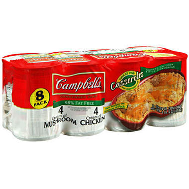 Campbell's® Reduced Fat Creams Condensed Soup - 8 pk. - 10.75 oz. Cans