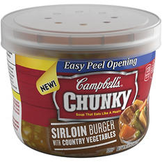 Campbell's Chunky Sirloin Burger with Country Vegetables Soup (15.25 oz., 8 ct.)
