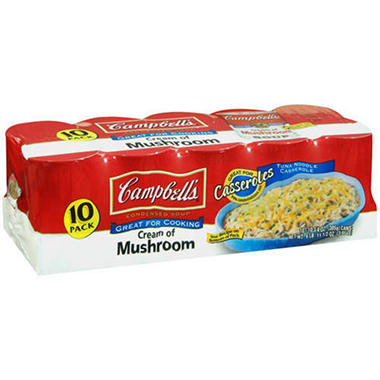 Campbell's� Cream of Mushroom - 10.75 oz. cans - 10 pk.